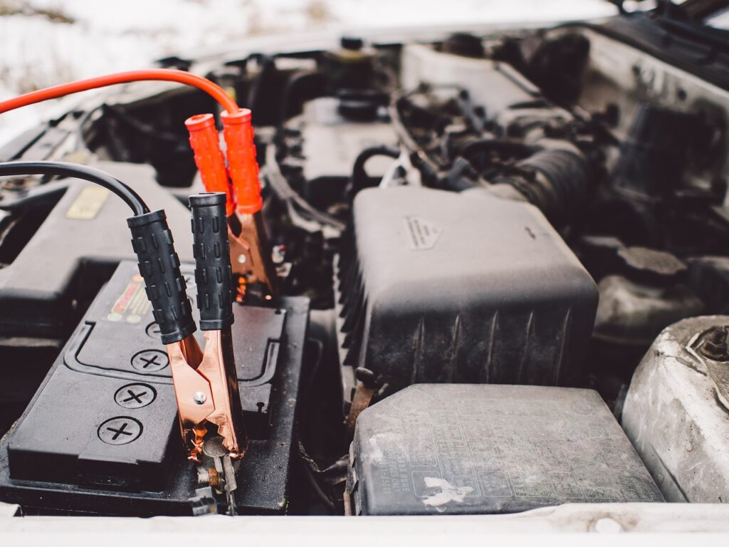 Shows vehicle's battery